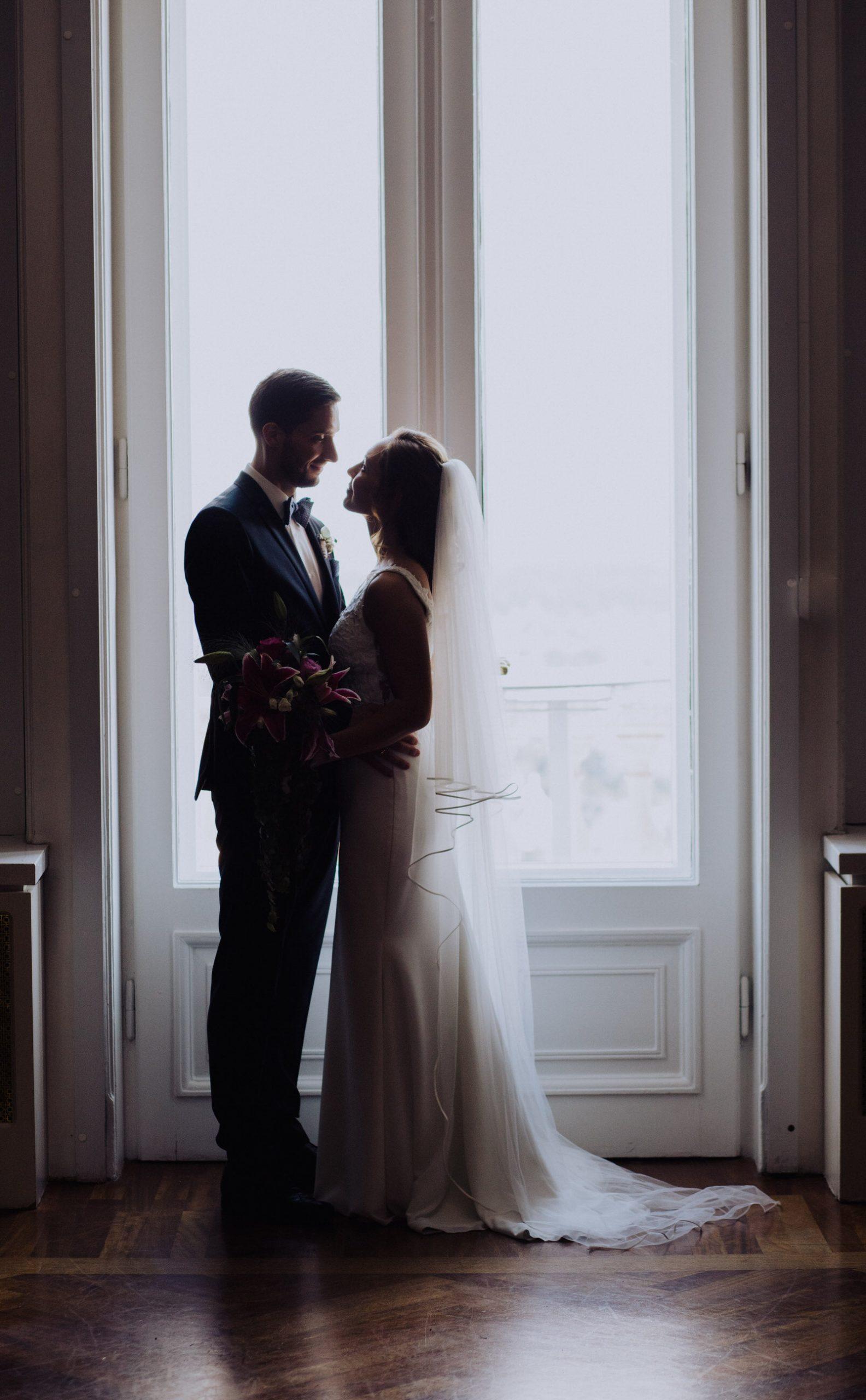 Hochzeitspaar Silhouette